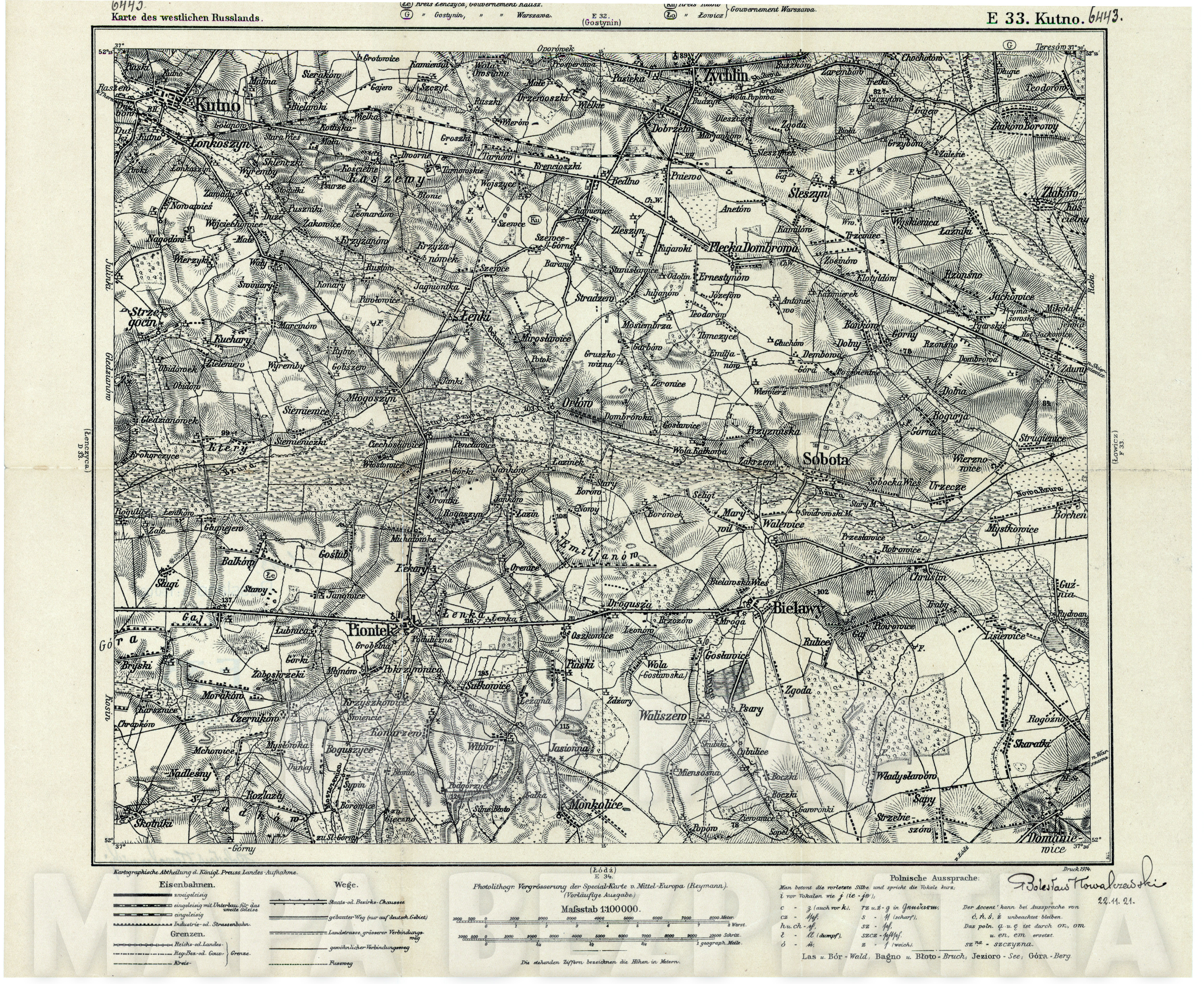 1914 Mapa i