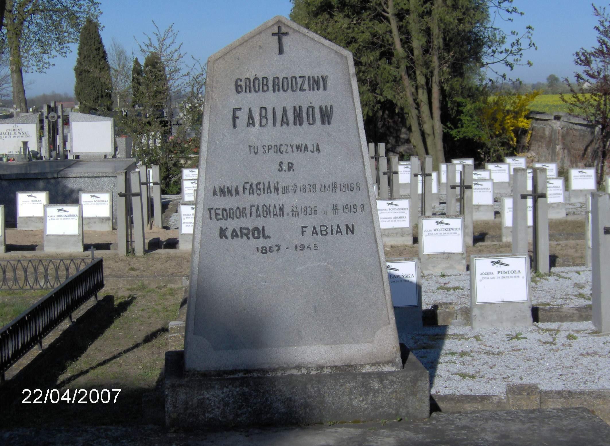 Nagrobek Karola Fabiana