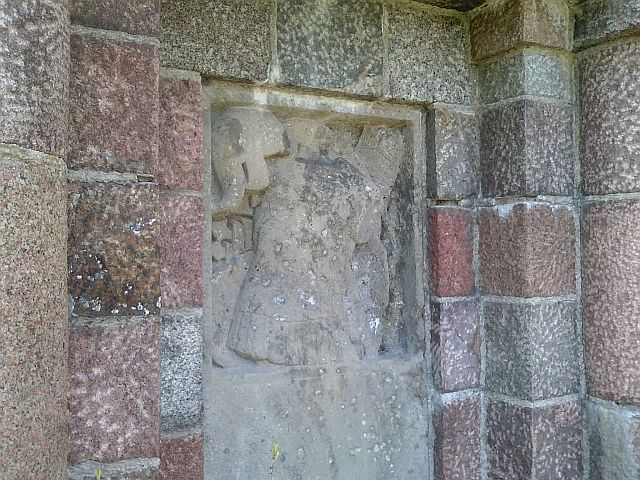 Obelisk w Luszynie-detal